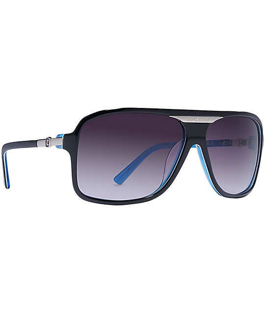 Von Zipper Stache Black & Blue Gradient Sunglasses
