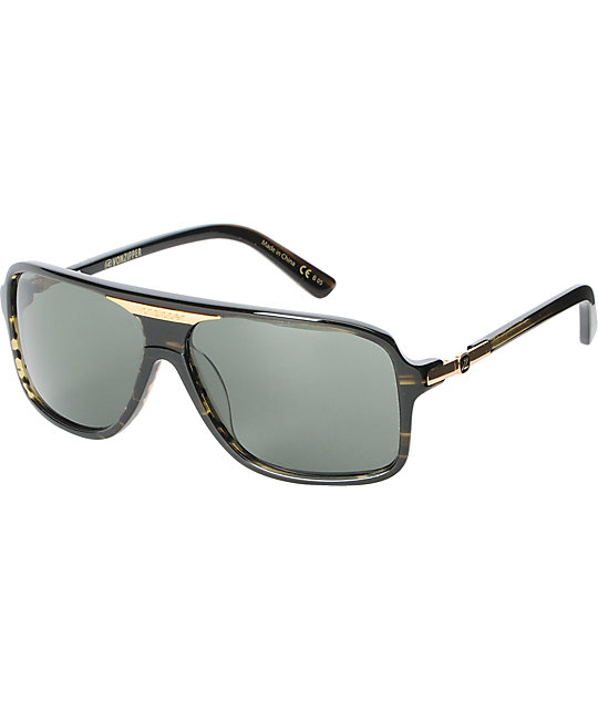 Von Zipper Stache Olive Tort & Grey Sunglasses