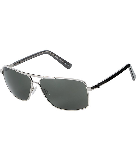 Von Zipper Stache Silver & Grey Sunglasses