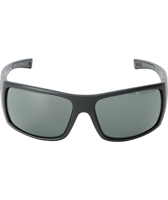 Von Zipper Suplex Black Satin & Grey Sunglasses