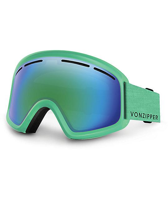 Von Zipper Trike Mono Mint Satin Youth Snowboard Goggles