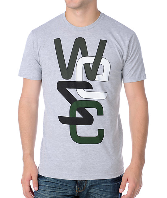 WESC Mens Overlay Grey T-Shirt
