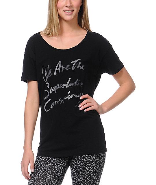 WeSC Aqua Script Black T-Shirt