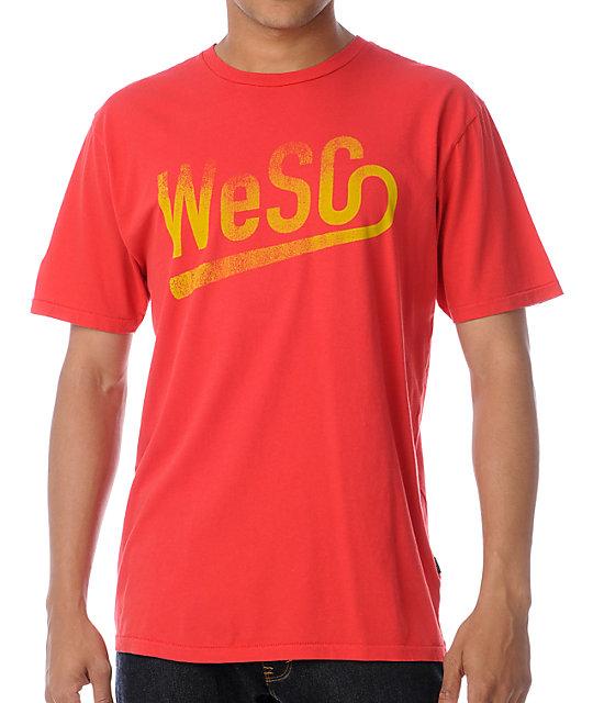 WeSC Baseball Red T-Shirt