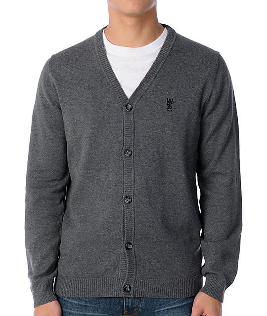 WeSC Borik Charcoal Grey Cardigan