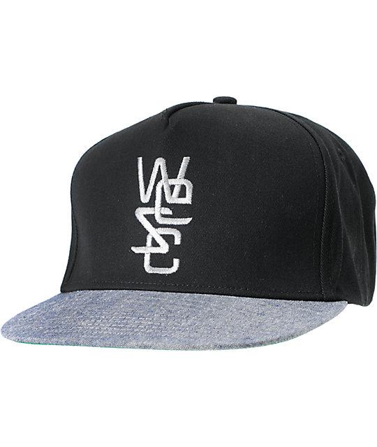 WeSC Caluget Black & Grey Snapback Hat