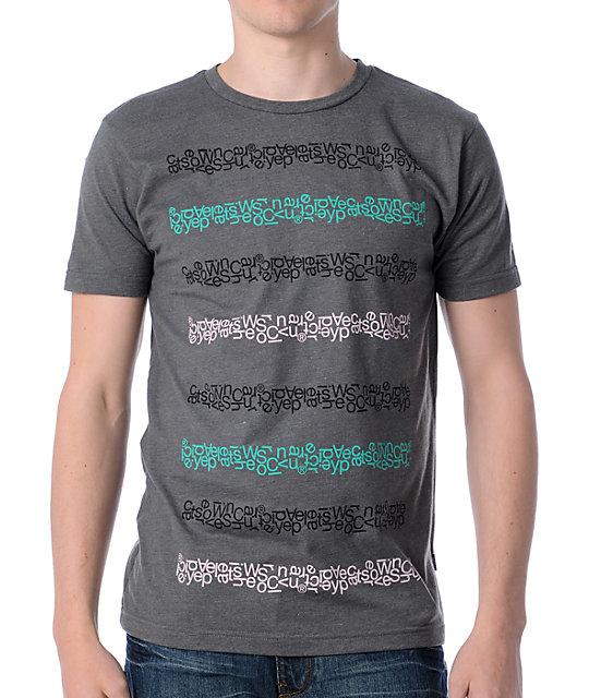 WeSC Conspiracy Stripe Charcoal T-Shirt