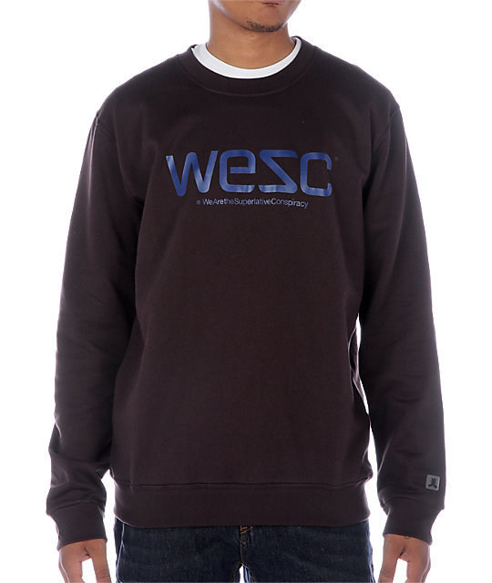 WeSC Crew Brown Sweatshirt
