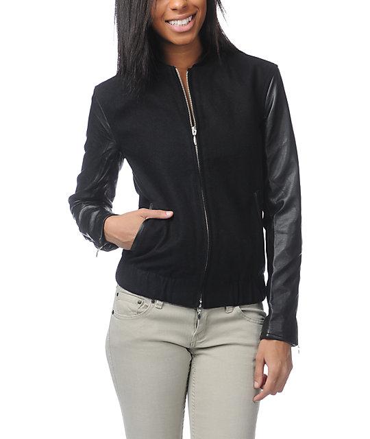 WeSC Edif Black Varsity Jacket