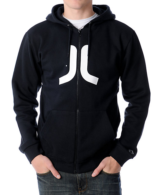 WeSC Icon Black Zip Up Hoodie