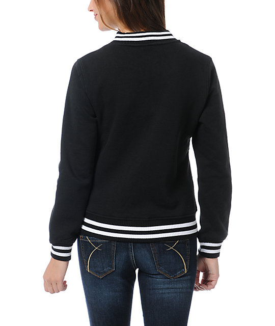 WeSC Lakai Black Fleece Varsity Jacket