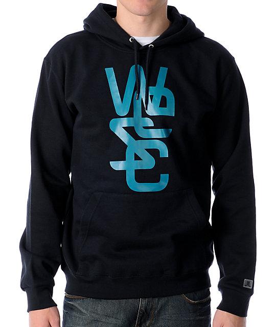 WeSC Overlay Black Pullover Hoodie