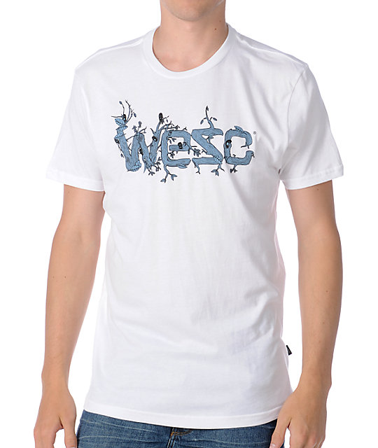 WeSC Overlay Branches White T-Shirt