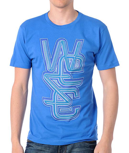 WeSC Overlay Lines Blue T-Shirt