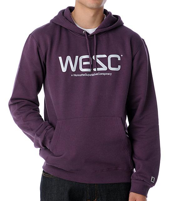 WeSC Purple Pullover Hoodie