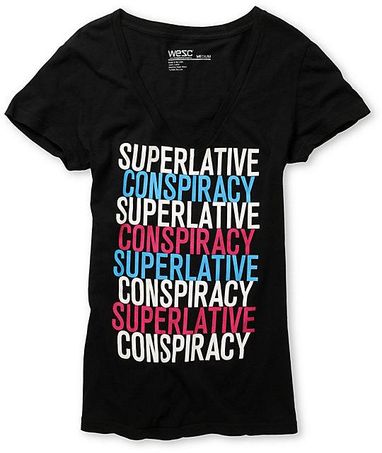 WeSC SC Times 4 Black V-Neck T-Shirt