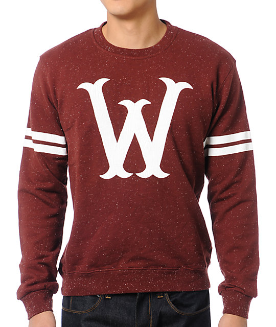WeSC W Stickball Red Crew Neck Sweatshirt