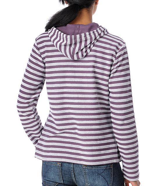 Wear Wash Repeat Elite Purple Elite Stripe Poncho