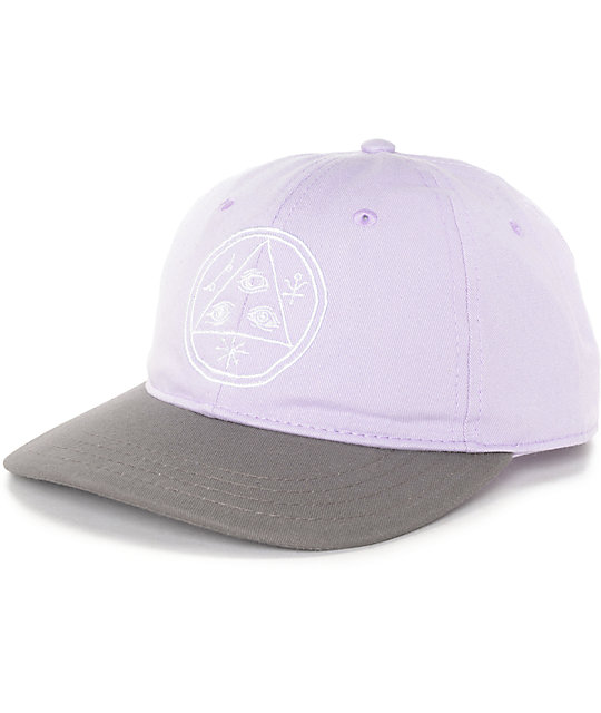 Welcome Basic Witch Lavender & Charcoal Baseball Hat
