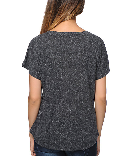 Wenanami Cosmic Anchor Charcoal Dolman T-Shirt