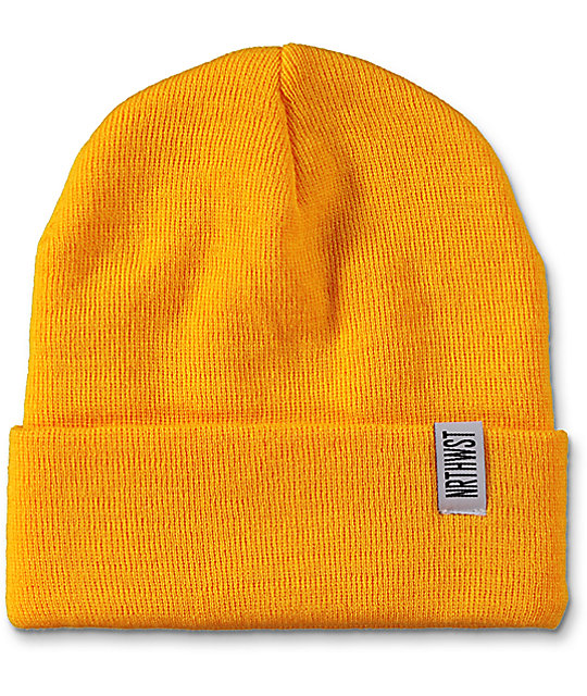 Wish You Were Northwest Gold Fold Beanie