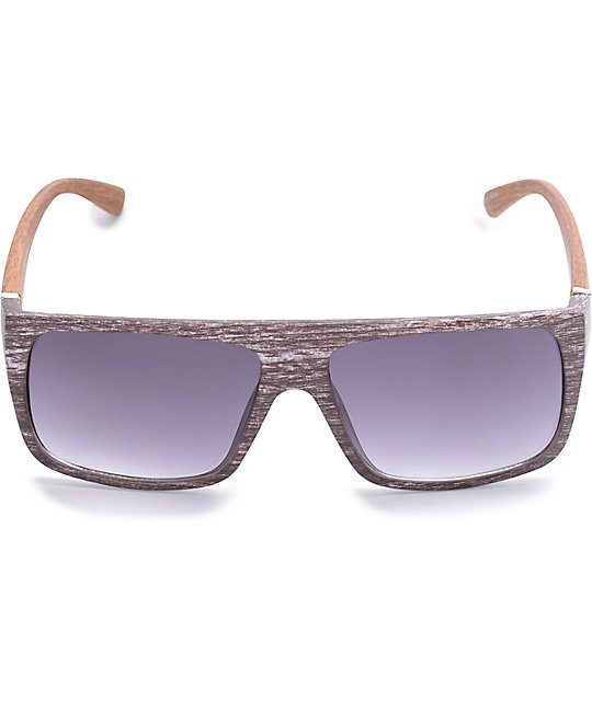 Wood Flat Top Sunglasses