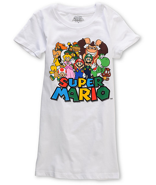 Word Of Mouth Super Mario Bros White T-Shirt