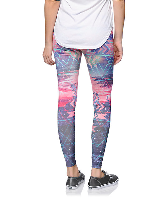 Workshop Cosmic Tribal Multicolor Printed Leggings