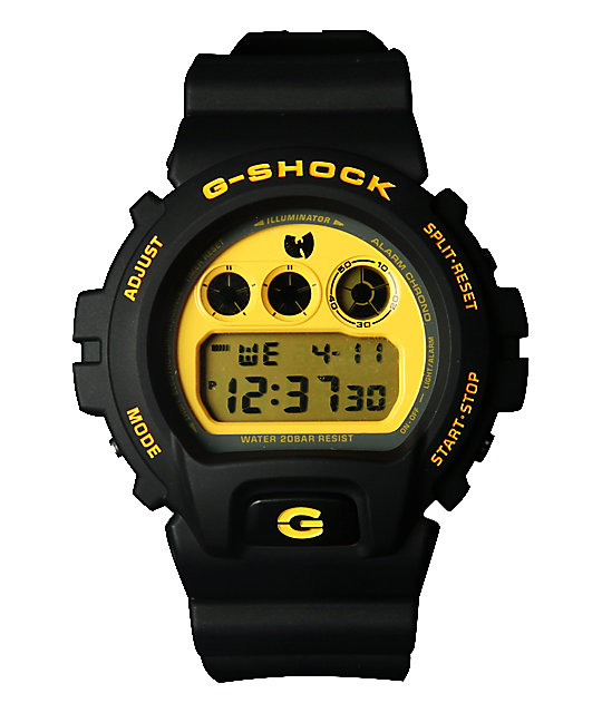 Wu Tang Clan x G-Shock DW-6900-FS Black & Yellow Watch