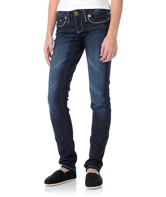 YMI Abby Navy Skinny Jeans