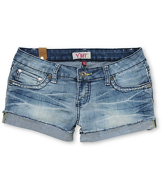 YMI Amy Blue Cut Off Jean Shorts