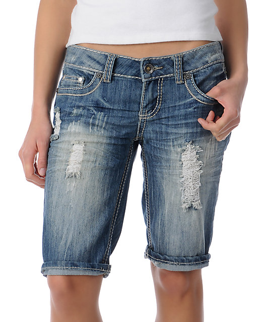 YMI Casey Denim Bermuda Shorts
