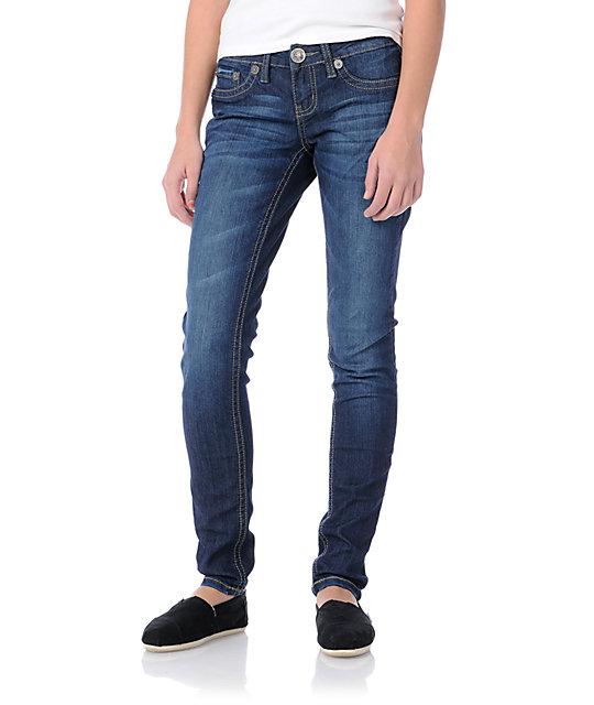 YMI Jana Navy Skinny Jeans