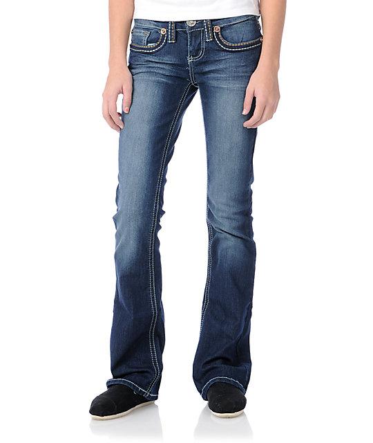YMI Jolie Navy Bootcut Jeans
