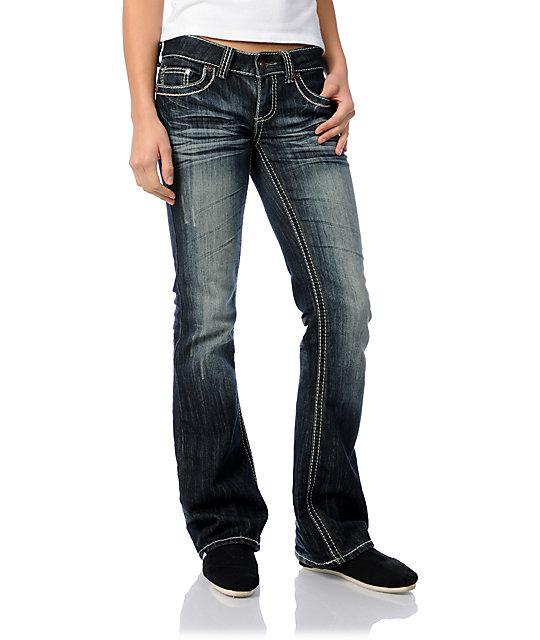 YMI Natalie Dark Blue Bootcut Jeans