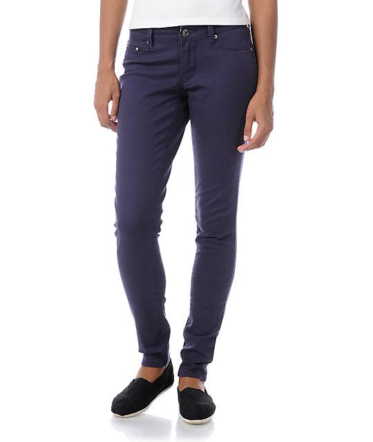 YMI Purple Twill Skinny Pants