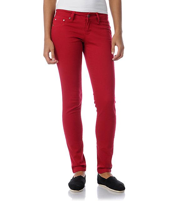 YMI Red Twill Skinny Pants