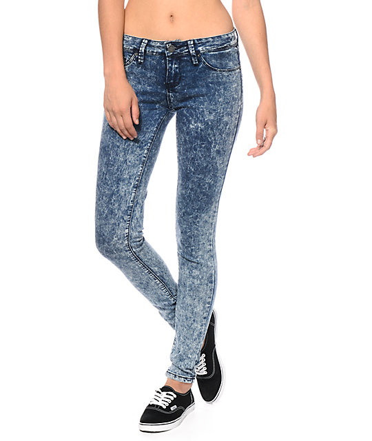 YMI Super Soft Acid Wash Skinny Jeans