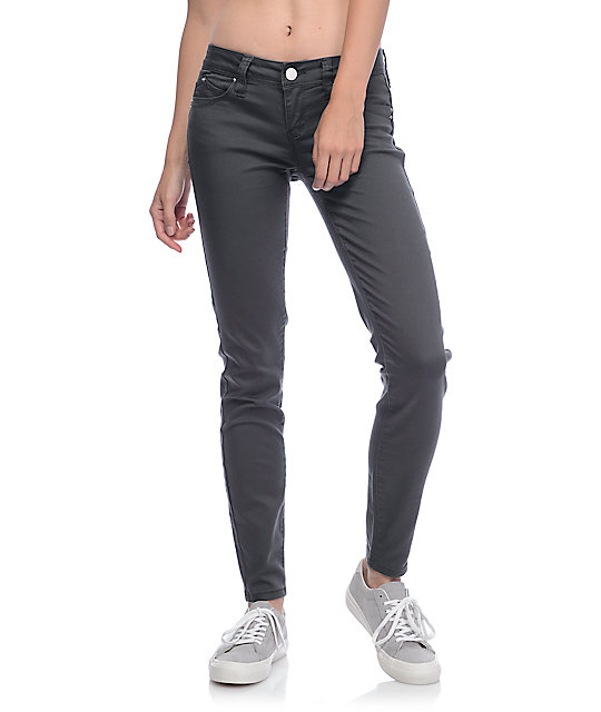 YMI WannaBettaButt Charcoal Twill Jeggings
