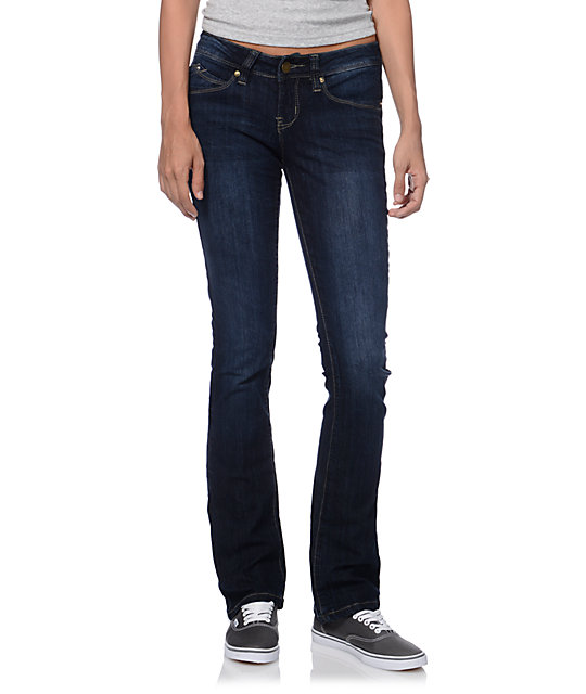 YMI WannaBettaButt Dark Blue Bootcut Jeans at Zumiez : PDP