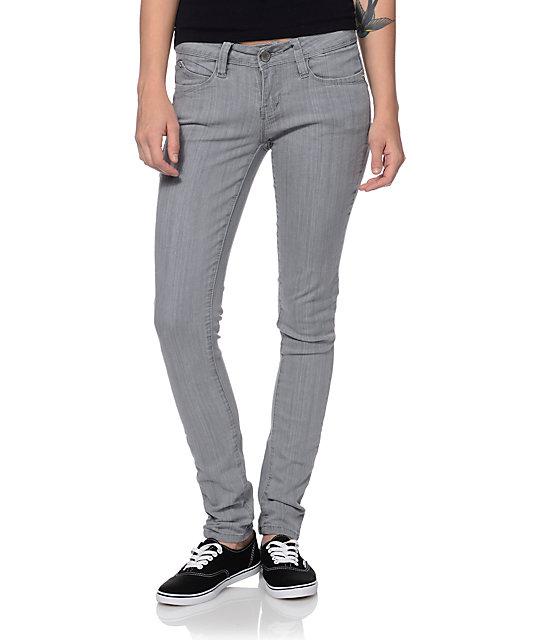 YMI WannaBettaButt Grey Skinny Jeans