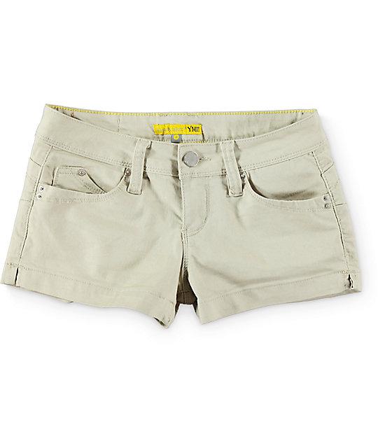 YMI WannaBettaButt Sand Side Slit Shorts