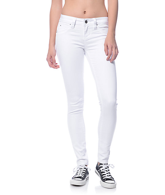 YMI WannaBettaButt White Jeggings