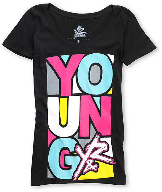 Young & Reckless Artist Black Scoop Neck T-Shirt