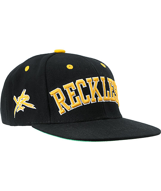 Young & Reckless Block Black & Yellow Snapback Hat