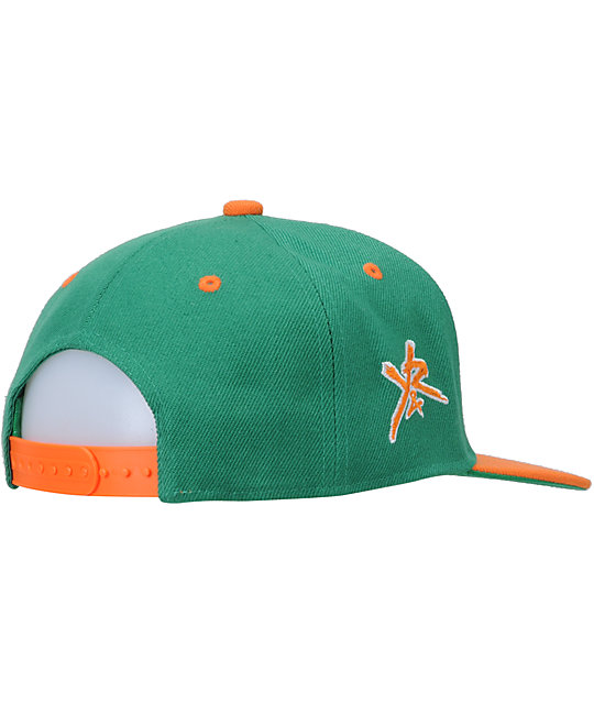 Young & Reckless Block Green & Orange Snapback Hat