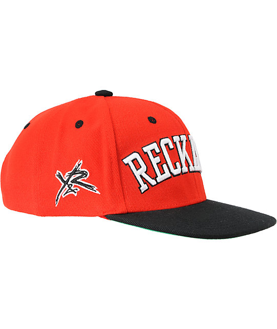 Young & Reckless Block Red & Black Snapback Hat