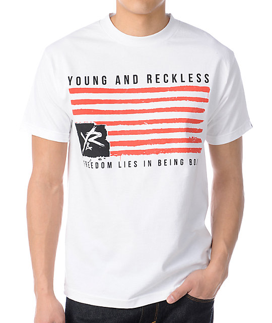Young & Reckless Freedom White T-Shirt