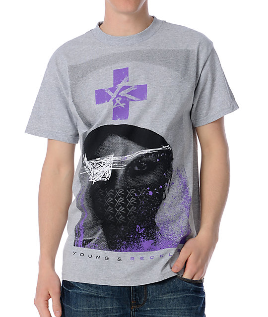 Young & Reckless Nurse Grey T-Shirt