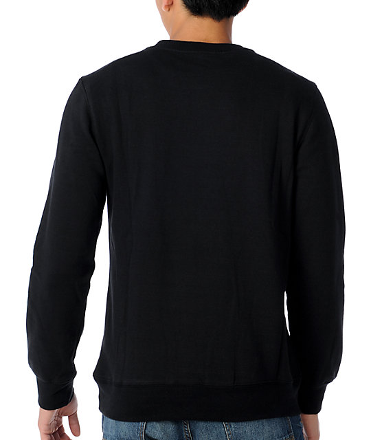 Young & Reckless Reckless Block Black Crew Neck Pullover Fleece